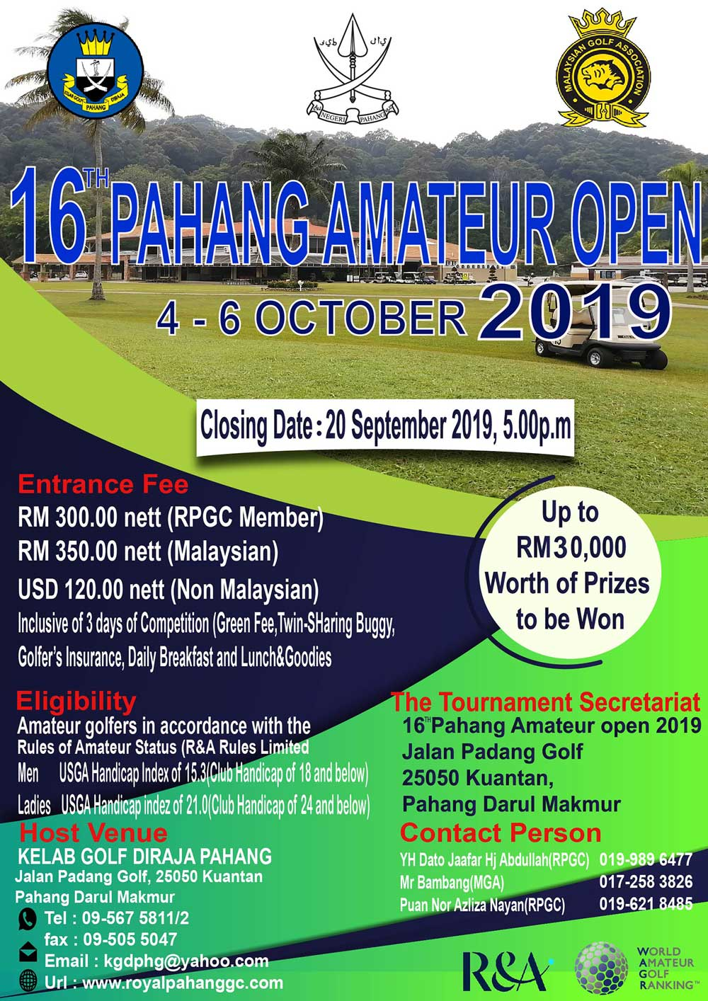 16th Pahang Amateur Open